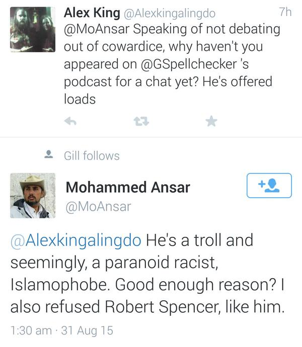 Mo Ansar Publicly Calls Me A Racist